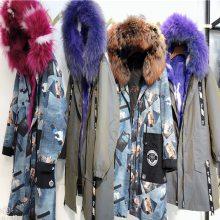 供应19秋冬韩版新款派克服品牌折扣女装走份品牌专柜女装