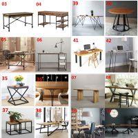 大板桌原木餐桌定制实木办公会议桌diy创意个性铁艺桌子架桌脚