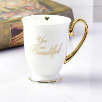 唯奥陶瓷厂批发定制骨瓷杯 黑白对杯 陶瓷情侣对杯 加logo