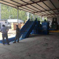 河北玉米杆液压打包机 120吨液压卧式压包机 山东金亿机械私人订制