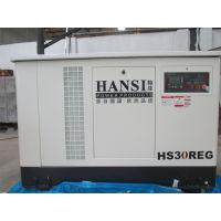 翰丝30千瓦220v/380v静音汽油、液化气、天然气发电机