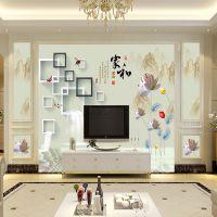 3d立体电视背景墙墙纸简约现代壁纸客厅装饰影视墙布软包壁画欧式
