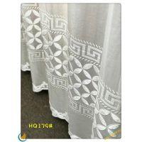柯桥厂家直销gafuhome人气北欧植绒条纹纯白窗帘窗纱定制客厅卧室阳台
