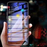 oppo a57钢化膜 A57 全屏紫光透明抗蓝光高铝硅手机玻璃贴膜批发