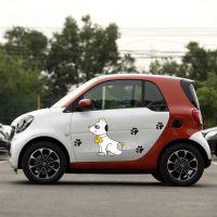 帝图电动汽车贴可爱卡通车身全车贴前后杠划痕遮盖贴纸车尾后窗贴
