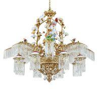 水晶酒店铜吊灯