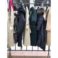 布同 2019冬装新款品牌折扣女装货源进货渠道女装批发走份货源 羽绒服