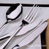 优质不锈钢刀叉勺套装 1010全套餐刀餐叉饭更咖啡更蛋糕铲西餐具