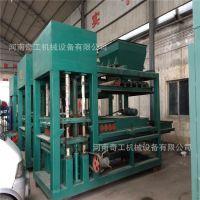 甘肃陇南小型3-15免烧制砖机 液压方正彩色空心砌块设备 垫块设备