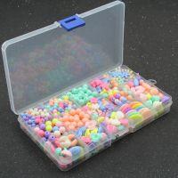 春天色糖果 儿童饰品手工DIY 15格串珠礼盒散珠弱视训练益智玩具