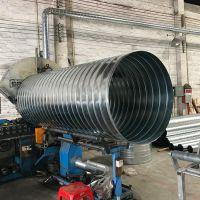 佛山风管厂家直销DN800镀锌板螺旋风管 排风管 通风管道 烟囱管 排烟管