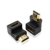 高清头 HDMI公转HDMI母弯头90度 挂壁电视机专用HDMI转接头