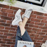 白鹿大人2018新款女运动小白老爹鞋透气网布低帮女鞋温州冷粘工厂