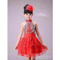 新款儿童舞蹈服装女幼儿白雪公主蓬蓬裙演出服亮片表演服纱裙