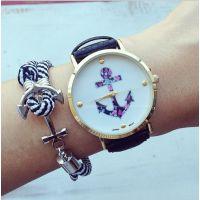厂家手表批发 Geneva watch 日内瓦手表 船锚手表 铁锚石英手表