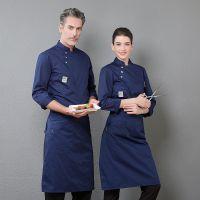 厨师服工作服长袖 秋装酒店厨房制服西餐厅饭店后厨厨师工服定制