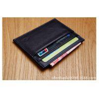 客户自主定制 小牛皮材料超薄时尚卡套 欧美风范真皮零钱卡包