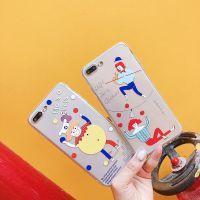 趣味马戏团小丑杂技iphone7透明8p手机壳个性硅胶苹果X全包软壳6s