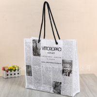 创意报纸无纺布袋 广告环保购物袋 广告补习班宣传广告袋来样定做