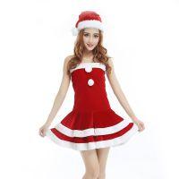 圣诞套装衣服女 圣诞老人套装 圣诞节衣服 圣诞节派对服饰女款