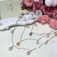 新货  韩版淡水珍珠  多种戴法手链 长项链 脚链