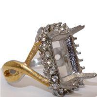 不锈钢 长安 朋克 个性女款 亚马逊速卖通 戒指厂家直销戒托镀金