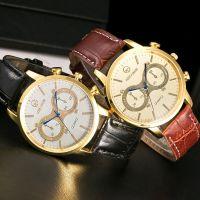 亚马逊爆款男士手表 时尚假眼男款腕表 经典大气石英表 厂家直销