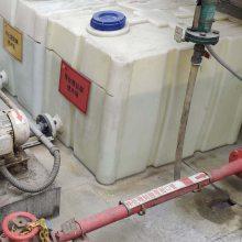 500升加厚机械设备配用柴油箱方形运输罐货车存油桶半吨PE塑料箱