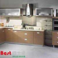 热销推荐 欧式风格高档橱柜 家事型实木整体厨房