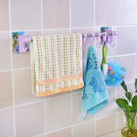 强力无痕胶免钉浴室贴壁毛巾杆 可水洗无痕单杆毛巾架 毛巾架批发