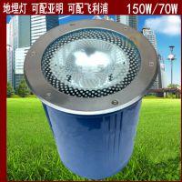 上海亚明户外防水地埋灯水下灯金卤灯双端 高压钠灯70W150W25公分
