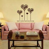 心型墙贴 装修室内 客厅卧室墙贴 浪漫可爱温馨风格墙贴