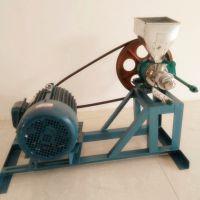 玉米糁膨化机直销 柴电两用空心棒膨化机