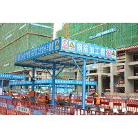 施工现场钢筋加工棚 钢筋棚搭设规范尺寸 汉坤实业