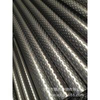 长沙焊管厂定制加工菱形花纹焊管 扶手 护栏 设备用焊管 砸扁弯曲