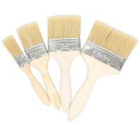 猪毛刷鬃毛刷木柄刷子烧烤刷油漆刷涂料刷1234寸规格烧烤工具批发