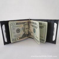 男女士PU皮质美金钱夹 外贸美金夹钱包 潮 时尚美金包 创意钱夹