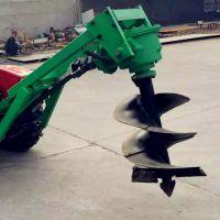 大直径螺旋钻坑机 电线杆立柱挖坑机四轮悬挂挖坑机批发