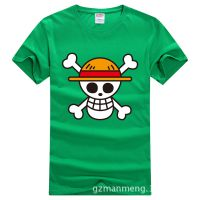 海贼王路飞动漫短袖 海贼旗T恤 男女款优质纯棉 草帽军团骷髅衣服