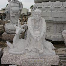 福建惠安 人物雕刻定制 大理石十八罗汉 普渡众生 济公石雕 可定制