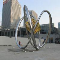 不锈钢雕塑定制不锈钢雕塑房地产景观设计大型广场雕塑鹿方圆工艺品厂家