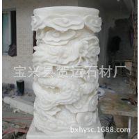 长期提供 拱桥汉白玉石雕栏杆 雪花白汉白玉 雕刻汉白玉