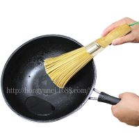 纯天然植物竹子细竹丝锅刷 木柄手工竹丝刷锅刷子酒店厨房清洁刷