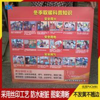 德鑫标识牌厂家直销PVC消防安全标牌定制款安全知识科普pvc宣传牌