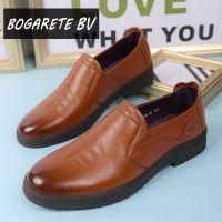 BOGARETE BV新款大码休闲皮鞋男鞋真皮44-46码 潮男单鞋低帮透气