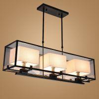 长方形新中式餐厅吊灯批发 简约大气客厅灯铁艺卧室灯饰吧台灯具