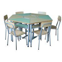 组合学习课桌椅 ,小学课桌椅,型号KXY-3373,学习活动桌,厂简约现代金属好椅达台