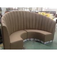 餐饮店PU皮卡座沙发定做背靠背双面卡座,餐厅沙发厂订制弧形沙发
