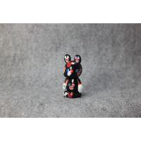 定制搪胶公仔玩具手办定制注塑玩具摆件蛋糕饰品8cm暴力熊