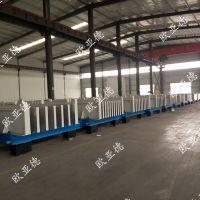 欧亚德液压开合模的卧式墙板设备生产线,自动化程度高!